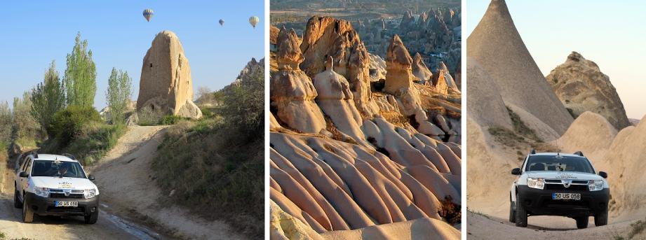 DACIA DUSTER in CAPPADOCIA con MOTORCUBE